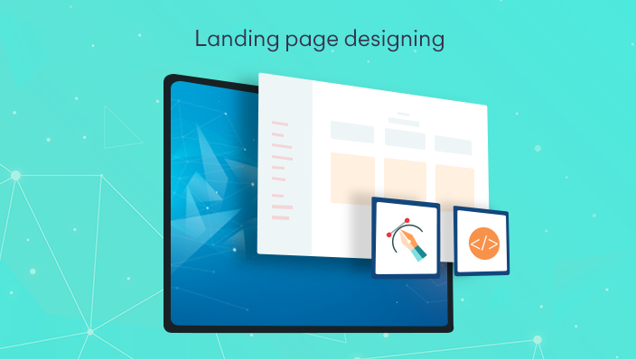 Design an attractive landing page for your website