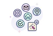 Custom 10 Line Icons Designing