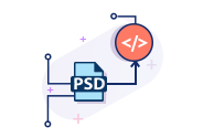 We convert psd to HTML responsive